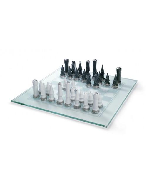 Шахматный набор. Серебряный блеск
