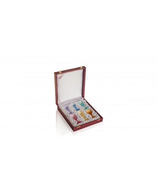 """Набор для водки из 6 предметов """"Ликер сет"""" (6 цветов) в подарочной коробке"""