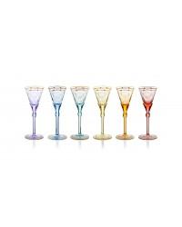 """Набор из 6 бокалов для белого вина 130 мл """"Паула""""/""""Paula"""" (6 цветов) в подарочной коробке"""