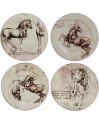 """Комплект блюдец для кондитерских изделий """"Лошади"""" """"Леонардо Да Винчи""""/""""Leonard De Vinci """" 4 шт."""