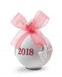 """Ёлочная игрушка """"Рождественский шар"""" 2018 (красный)"""